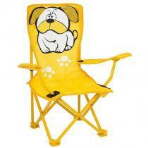 Cadeira Infantil Dobrável Bulldog Amarela 2091 - Mor - Mor
