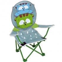 Cadeira Infantil Dobrável Gatoons Cinza 2092 - Mor - Mor
