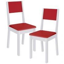 Cadeira MDF para Escritório 2 Peças Madesa - Tutti Colors