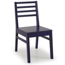 Cadeira ONE Madeira Maciça - Pintura em Laca Roxa - CasaTema