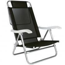 Cadeira Reclinável Sol de Verão Preta 2155 - Mor - Mor