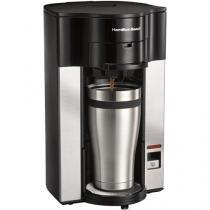 Cafeteira Elétrica Hamilton Personal Cup 2 Xícaras - Preta e Prata