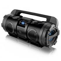 Caixa de Som Boombox 80W RMS USB SD FM Aux Bivolt - SP163 - Neutro - Multilaser