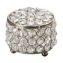 Caixa Redonda Cristal Silver Plated - Prestige 3035