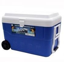Caixa Térmica Cooler com Rodas 60 Litros Azul Belfix 4360 - Belfix