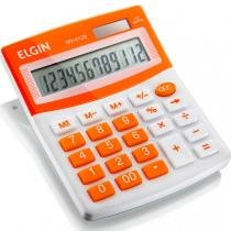 Calculadora de Mesa 12 Dígitos MV-4128 com Célula Solar Laranja - Elgin - Elgin