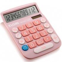 Calculadora de Mesa 12 Dígitos MV-4130 com Célula Solar Rosa - Elgin - Elgin