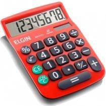 Calculadora de Mesa 8 Dígitos MV-4131 com Célula Solar Vermelha - Elgin - Elgin