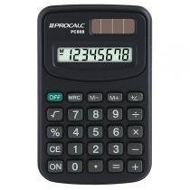 Calculadora Pessoal 8 Dígitos Preta PC888 - Procalc - Procalc