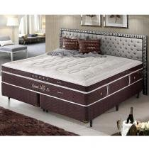 Cama Box King Size Dupla Molas Ensacadas High e Low Grand Luxe - Espuma Látex  158x198x73 - Palemax
