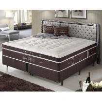 Cama Box King Size Dupla Molas Ensacadas High e Low Grand Luxe - Espuma Látex - Firmeza - 193x203x73 - Palemax