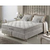 Cama Box King Size Molas Ensacadas High Support PHP Las Vegas Fresh Touch - Firmeza - 193x203x67 - Palemax