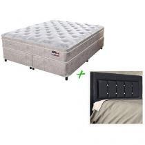 Cama Box Queen Size (Box + Colchão) Sealy - Mola Pocket + Cabeceira
