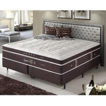 Cama Box Queen Size Dupla Molas Ensacadas High e Low Grand Luxe - Espuma Látex - Firmeza 158x198x73 - Palemax