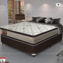 Cama Box Queen Size Good Like Molas Ensacadas e Euro Top Duplo - Firme - Gazin - 138x188x73 - Gazin
