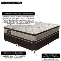 Cama Box Queen Size Good Like Molas Ensacadas e Euro Top Duplo - Firme - Gazin - 158x198x73 - Gazin