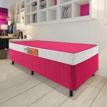 Cama Box Solteiro (Box + Colchão) Celuplás - 41cm de Altura Color Block