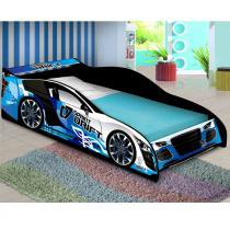 Cama Carro Drift Solteiro - Azul - JA Móveis