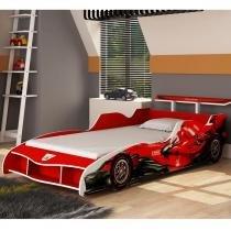 Cama Carro F1 090 - Vermelha - Gelius