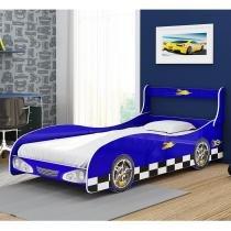Cama Carro Solteiro Rally - Azul - Gelius