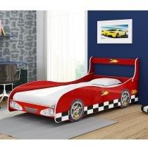 Cama Carro Solteiro Rally - Vermelha - Gelius