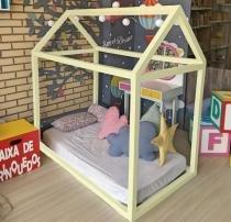 Cama Montessoriana Bebê Amarelo - Amarelo - Markine Mobilier