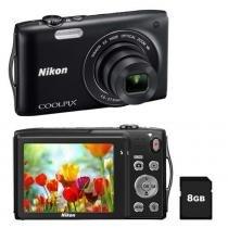 Câmera Digital S3300 16MP Preta - Nikon - Nikon