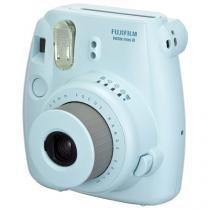 Câmera Instantânea Fujifilm Instax Mini 8 Azul Flash Automático Foco Regulável