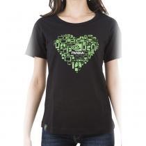 Camiseta Feminina Coração Tamanho G NVIDIA - G - Nvidia