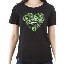 Camiseta Feminina Coração Tamanho P NVIDIA - P - Nvidia