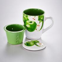 Caneca Maçã Verde com Infusor - Bon Gourmet