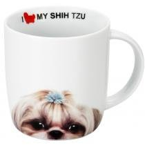 CANECA PORCELANA 340ML I LOVE MY SHIH TZU - Unica - DYNASTY