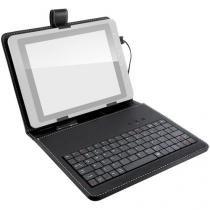 """Capa Mini Teclado e Suporte Multilaser Slim 9.7"""" USB Preto - TC157 - Preto - Multilaser"""