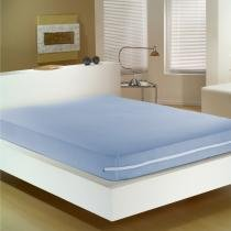 Capa Para Colchão Casal Malha 150 Fios 90 gm2 - 30 cm de Altura - Buettner - Azul Royal - Buettner