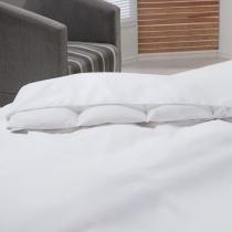 Capa para Edredom Impermeável Casal 210x220 cm 233 Fios Branco - Branco - Plumasul
