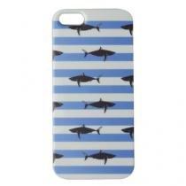 Capa para iPhone 5/5S/SE de Acrílico Shark Azul com película protetora - Geonav
