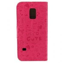 Capa Samsung Galaxy S5 Mini Cartoon Rosa - Idea - Idea