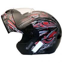 Capacete MX Gladiator Plus Mixs Preto e Vermelho - Tam. 60