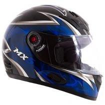 Capacete MX5 Blade Mixs Preto e Azul - Tam. 60