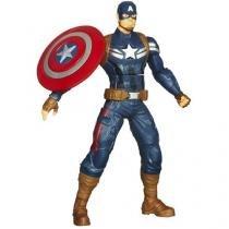 """Capitão América Eletrônico 10"""" com Frases - Hasbro"""