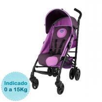 Carrinho de Bebê Chicco - Liteway - até 15kg - Purple - Neutra - Chicco