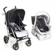 Carrinho de Bebê Dzieco Tatus e Bebê Conforto Cocoon - Preto - Dzieco