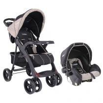 Carrinho de Bebê e Berço Passeio Cosco Lisboa - p/ Crianças até 15kg + Bebê Conforto Kiddo Cosycot