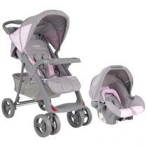 Carrinho de Bebê e Berço Passeio Cosco Lisboa - p/ Crianças até 15kg + Bêbe Conforto Kiddo Cosycot