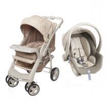 Carrinho de Bebê Galzerano Optimus e Bebê Conforto Cocoon - Bege - Galzerano