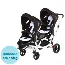 Carrinho de Bebê para Gêmeos ABC Design Zoom - Phantom - Neutra - ABC Design