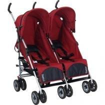 Carrinho de Bebê para Gêmeos Burigotto Duetto - Reclináveis 2 Posições para Crianças até 15kg