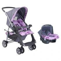 Carrinho de Bebê Passeio Burigotto + Bebê Conforto - Rio Plus Reversível para Crianças até 15kg