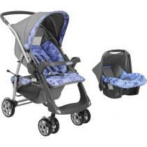 Carrinho de Bebê Passeio Burigotto Conjunto - Rio Plus com Bebê Conforto para Crianças até 15kg