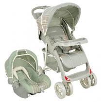 Carrinho de Bebê Passeio Lenox Kiddo Lisboa - Reclinável 3 Posições + Bebê Conforto Lenox Kiddo